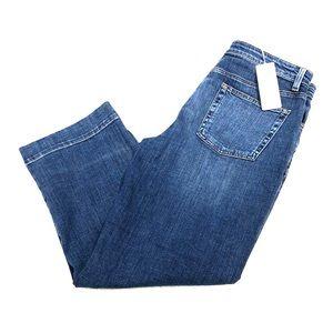 Eileen Fisher Stretch Denim Dark Blue Jeans 8 NWT